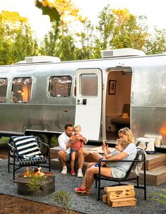 Luxury Rv, Luxury Tents, Luxury Camping, Airstream Camping, Glamping, Spa Inspired Bathroom, Fire Pit Grill, Atlantic Beach, Heating And Air Conditioning