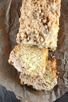 Eggnog NY Crumb Cake with Spiced Rum Glaze from Caron Leipziger Rudd Christmas Desserts, Christmas Treats, Just Desserts, Delicious Desserts, Cake Recipes, Dessert Recipes, Eggnog Recipe, Cupcake Cakes, Cupcakes