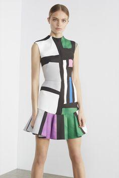 Camilla and Marc | Resort 2016 | 07 Multicolored printed sleeveless mini dress with ruffled hem
