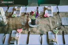 De Uijlenes wedding venue rustic wedding, table setting, hessian