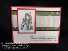 """All Ye Faithful, Home for Christmas Designer Series Paper and Very Vanilla 1 1/4"""" Subtle Stripes Satin Ribbon"""