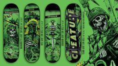 Creature skateboards some nice graphics Skate Decks, Skateboard Decks, Creature Decks, Chris Russell, Creature Skateboards, Skate Art, Skateboarding, Surfing, Horror