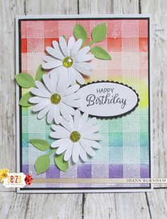 Seize the Birthday - Rainbow Homemade Greeting Cards, Greeting Cards Handmade, Homemade Cards, Make Your Own Background, Handmade Birthday Cards, Card Sketches, Flower Cards, Baby Cards, Stampin Up Cards
