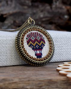 This item is unavailable Tiny Cross Stitch, Cross Stitch Designs, Cross Stitch Patterns, Silk Ribbon Embroidery, Hand Embroidery, Cross Stitching, Cross Stitch Embroidery, Cross Pendant, Hama Bead