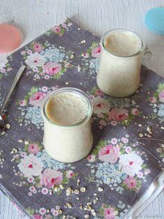 Iogurte de aveia, mel e canela