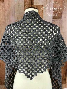 Crochet Granny Square Shawl