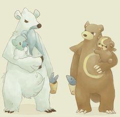 Beartic, Cubchoo, Ursaring, Teddiursa