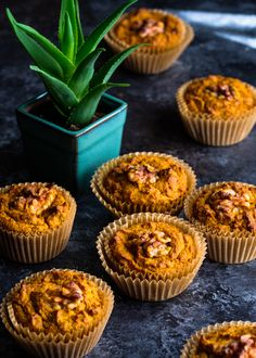 Ginger and Turmeric Sweet Potato Muffins - Creative in My Kitchen