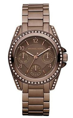 MICHAEL KORS LADIES' ESPRESSO CRYSTAL CHRONOGRAPH WATCH...carie tell Justin I want this for our present to each other !!!