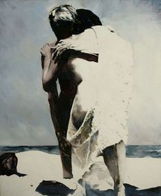 Painting / 56 x 46 inch / Oil on canvas Balcomb Greene, Two Figures, 1970 Oil on canvas, 56 x 46 inches