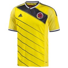 The new Colombia 2014 World Cup Home Kit is based on the Adidas Condivo 14 template and features the collars yellow / blue. Colombia 2014 Away kit will be red. Colombia 2014 Kits are made by Adidas. World Cup Shirts, World Cup Jerseys, Soccer World, Adidas Football, Football Jerseys, Fifa Football, World Cup 2014, Fifa World Cup, Adidas Colombia