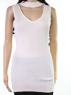 415a741b1a269a Design Lab NEW White Ivory Womens Size Large L V-Mock-Neck Knit Top  59 155   fashion  clothing  shoes  accessories  womensclothing  tops (ebay link)