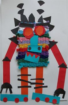 Idea: use cardboard weaving looms to create cloth sample to become base for collage image...