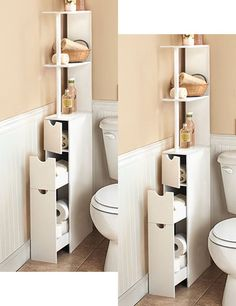 This is exactly what I need in my bathroom space. tight space storage solution (ebay)