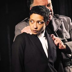 """gael-garcia: """" First images of Ruth Negga as Hamlet (Gate Theater Dublin, 27 Oct """"Negga is a princely Hamlet, full of gracious entitlement, capricious and deeply wounded. Red Sox Hat, Female Armor, Fade Away, Art Inspiration Drawing, Take Me Out, Howls Moving Castle, Someone New, One Image, Androgyny"""