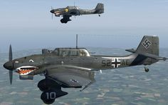 Shark Stuka (S2+AC) of II./StG77. Hauptmann Helmut Leicht (1916-1944) was a Stab II commander of StG77 from 1 April 1943 to 18 October 1943.