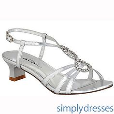 Betty Short Heel Silver Shoe at SimplyDresses.com these are cute too these are 1.5 i meant to say no more then 1 & 1/2 inches lol