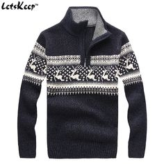 New LetsKeep 2016 mens christmas deer sweaters wool turtleneck sweater men pullover thick knitted christmas sweater mens,MA260