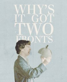 Sherlock Holmes and the death Frisbee. Click, gif. ^^ I didn't even watch it and I think it's funny O-O