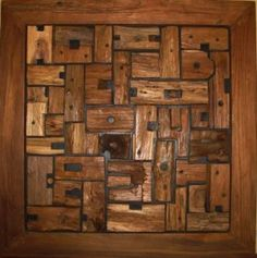 egyedi falburkolat dekoráció bontott faanyagból, diy falburkolat Wood Furniture Store, Solid Wood Furniture, Rustic Furniture, Home Furniture, Wooden Art, Wood Wall Art, Small Wood Projects, Unique Paintings, Loft Design