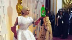 Pin for Later: Wait, We Have a Few More Oscars to Hand Out! Most Creative Use of Dish Gloves: Lady Gaga