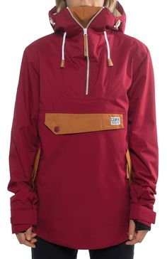 CLWR Colour Wear Recruit Anorak Women's Snowboard Jacket, XS, Burgundy