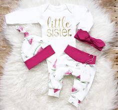 Organic Baby Girl Clothes Newborn Baby Girl Outfit Coming Home Outfit Little Sister Outfit Take Home Outfit Watermelon Outfit Euro Print by LLPreciousCreations on Etsy https://www.etsy.com/listing/541129665/organic-baby-girl-clothes-newborn-baby
