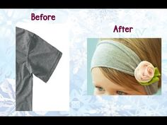 How to Change an Old T-Shirt Sleeve into a Cute Headband - DIY Projects - YouTube