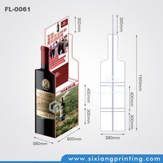Custom Point Of Sale Wine / Beer Paper Material Exhibition Display Stand
