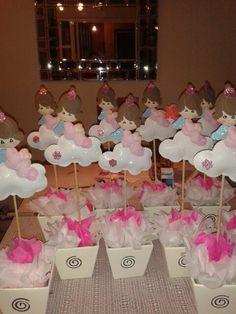 1000 images about centros de mesa on pinterest mesas hidden laundry rooms and flower balloons - Como hacer centros de mesa para bautizo ...