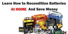 Battery Reconditioning - How To Recondition Batteries At Home www.infomagazines... #HowToReconditionBatteries #How_To_Recondition_Batteries www.pinterest.com... TAGS: How To Recondition Batteries, How To Recondition Old Batteries, How To Fix A Dead Cell In A Car Battery, How To Recondition A Lead Acid Battery, Battery Reconditioning Charger - Save Money And NEVER Buy A New Battery Again