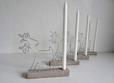 Adventskranz aus Beton mit Rentieren Advent wreath of concrete with reindeer Cement Art, Concrete Art, Concrete Planters, Concrete Crafts, Concrete Projects, Diy Projects, Wire Crafts, Diy And Crafts, Papercrete