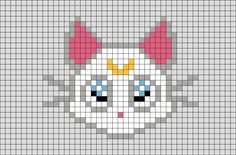 Sailor Moon Artemis Pixel Art from BrikBook.com #SailorMoon #Artemis #Cat #guardian #pixel #pixelart #8bit Shop more designs at http://www.brikbook.com