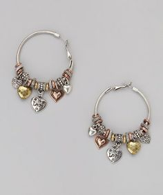 Look what I found on #zulily! Brass Charm Hoop Earrings by Mica #zulilyfinds