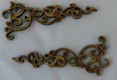 Wood mini florushes no.2-2 pieces