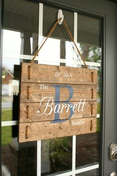 Family Established Sign, door hanger and porch sign. This charming porch sign is created and meticulously handcrafted by Silva Design. It has been