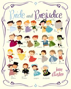 Pride and Prejudice...i would love to have this same type of illustration for all of the texts we read in class  @Carrie Zoch-Shevlin