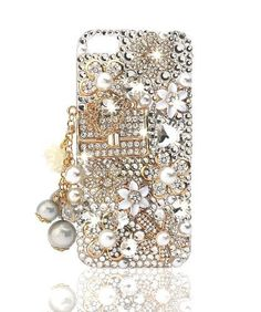 NOVA CASE ® Glamour Series 3D Bling Crystal iPhone Case for iPhone 5 -  Floral Coco a2021421fc