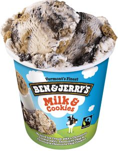 Ben and Jerry's Milk and Cookies Ice Cream Ice Cream and Cookies...yes! I'm in love. One of my favorites.