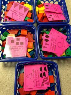 s first grade tidbits: geometry daily 3 math, elementary math Preschool Math, Math Classroom, Kindergarten Math, Fun Math, Teaching Math, Math Math, Teaching Ideas, Classroom Ideas, 1st Grade Math