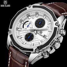 MEGIR Chronograph Glow Hands Watch