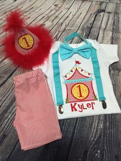 Customizable Carnival Circus Theme First by Fashioned4You2 on Etsy