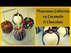 Como Hacer Manzanas cubiertas con Caramelo & Chocolate - YouTube