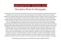 descriptivewords-for-photography
