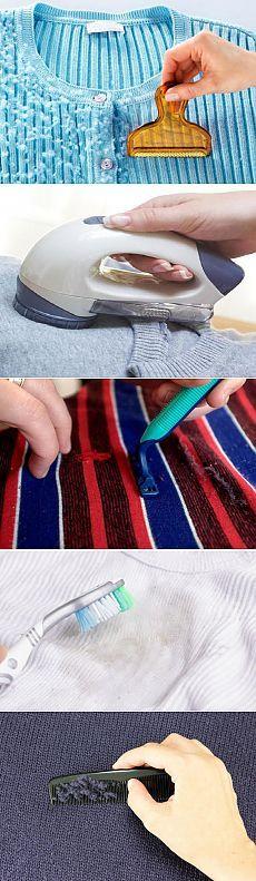 Как убрать катышки с одежды?