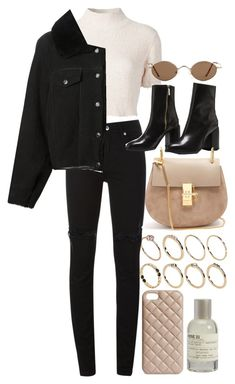 A fashion look from January 2018 featuring cropped shirts, Acne Studios and ripped skinny jeans. Browse and shop related looks. Winter Fashion Outfits, Fall Winter Outfits, Cute Casual Outfits, Stylish Outfits, Mode Rockabilly, Elegantes Outfit, Looks Chic, Teenager Outfits, Mode Inspiration