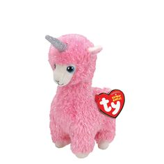 Claire's Ty Beanie Boo Small Lana the Llama Unicorn Plush Toy Beanie Boo Dogs, New Beanie Boos, Ty Beanie, Beanie Babies, Llama Plush, All Toys, Xmas Presents, Dinosaur Stuffed Animal, Unicorn