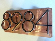 House number Address Sign raised numbers on pure by J2Kmetal, $90.00