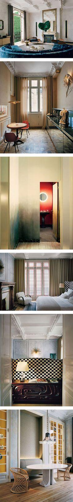 A beautiful apartment by KO Studio in Paris on Nuji.com #homedecor #interiordesign #kostudio