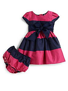 Ralph Lauren - Infant's Striped Dress & Bloomers Set